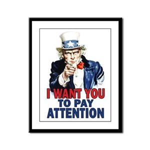 More Uncle Sam Sayings Framed Panel Print