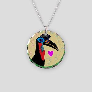 hornbill Necklace Circle Charm