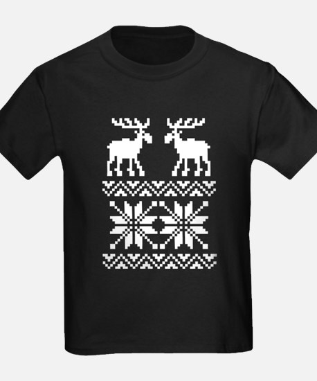 Moose Sweater Christmas Pattern T