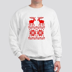 Moose Sweater Christmas Pattern Sweatshirt