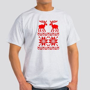 Moose Sweater Christmas Pattern Light T-Shirt