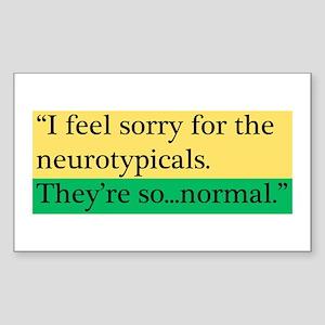 Neurotypicals Sticker (Rectangle)