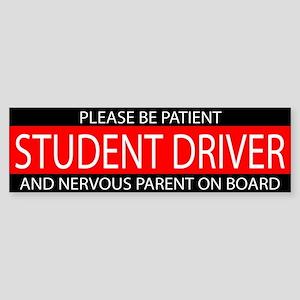 Student Driver Red White Sticker (Bumper)