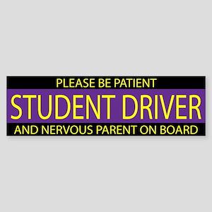 Student Driver Purple Yellow Sticker (Bumper)