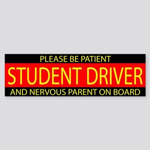 Student Driver Red Yellow Sticker (Bumper)