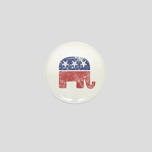 Worn Republican Elephant Mini Button