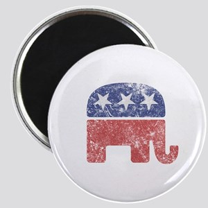 Worn Republican Elephant Magnet