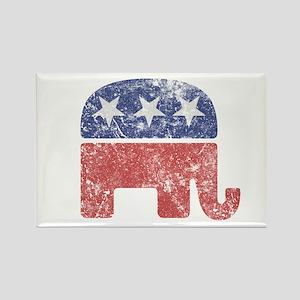 Worn Republican Elephant Rectangle Magnet