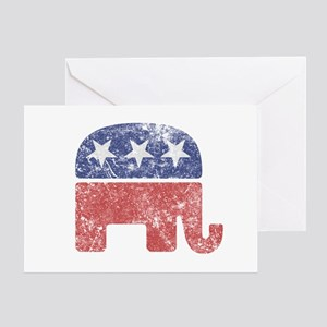 Worn Republican Elephant Greeting Card