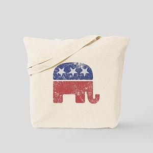 Worn Republican Elephant Tote Bag