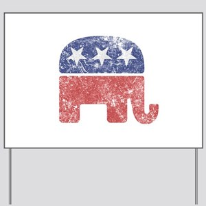Worn Republican Elephant Yard Sign