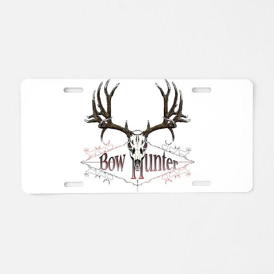 Bow hunting,deer skull Aluminum License Plate