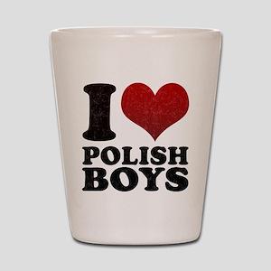 I love Polish Boys Shot Glass
