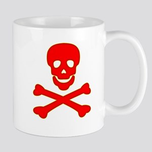 Blood Red Skull & Crossbones Mug