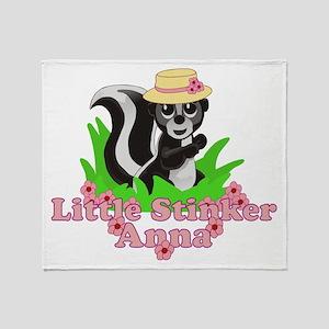 Little Stinker Anna Throw Blanket