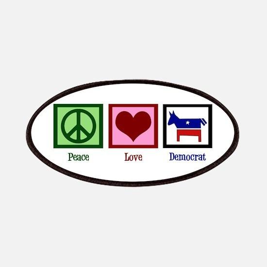 Peace Love Democrat Patches