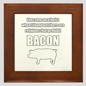 Prohibit bacon. Framed Tile