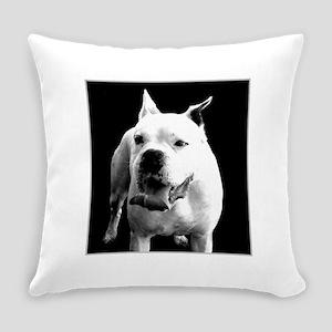 White Boxer dog Everyday Pillow