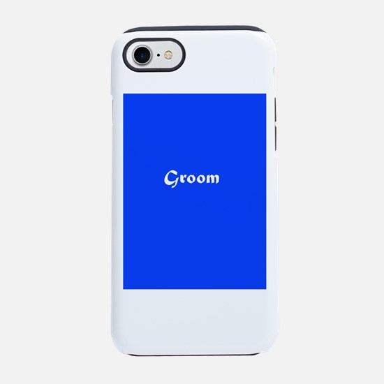 Blue Groom Wedding Wylie's iPhone 7 Tough Case