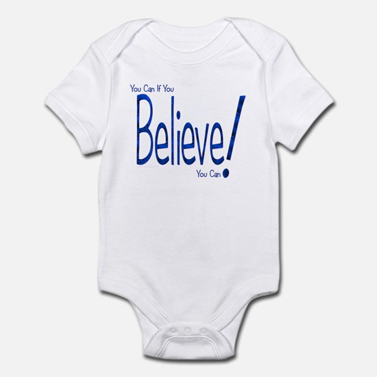 Believe! (blue) Infant Creeper