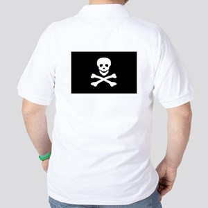 Black Pirate Flag Golf Shirt