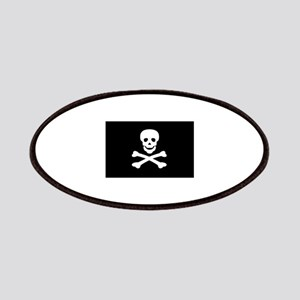 Black Pirate Flag Patches