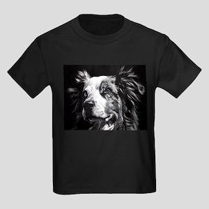 Dramatic Australian Shepherd Kids Dark T-Shirt