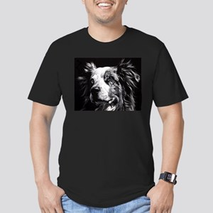 Dramatic Australian Shepherd Men's Fitted T-Shirt