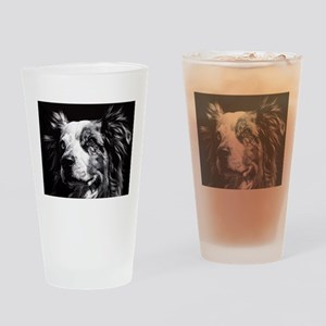 Dramatic Australian Shepherd Drinking Glass
