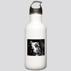 Dramatic Australian Shepherd Stainless Water Bottl