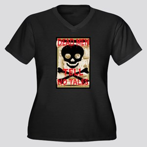 Dead Men Tell No Tales Women's Plus Size V-Neck Da