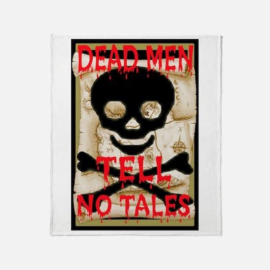 Dead Men Tell No Tales Throw Blanket