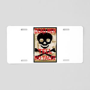 Dead Men Tell No Tales Aluminum License Plate