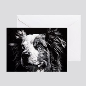 Dramatic Aust. Shepherd Greeting Card