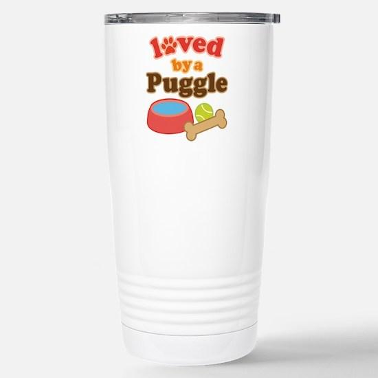Puggle Dog Gift Stainless Steel Travel Mug