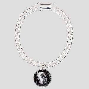 Dramatic Aust. Shepherd Charm Bracelet, One Charm