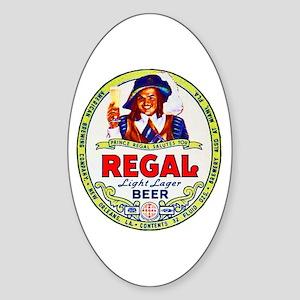 Louisiana Beer Label 1 Sticker (Oval)