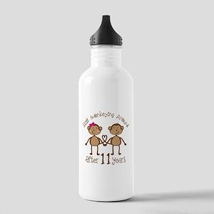 11th Anniversary Love Monkeys Gift Stainless Water