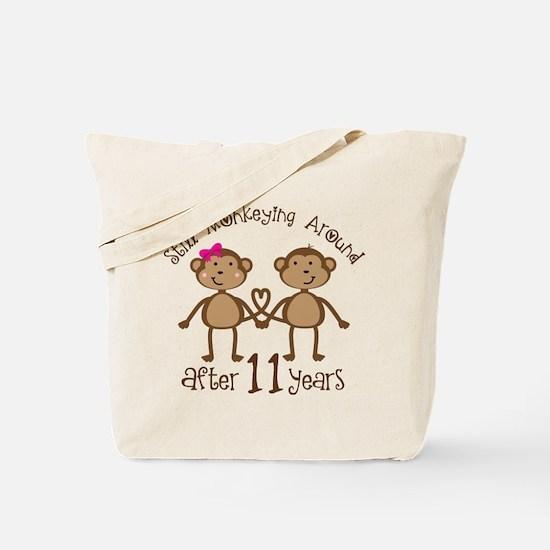 11th Anniversary Love Monkeys Gift Tote Bag