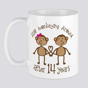 14th Anniversary Love Monkeys Mug