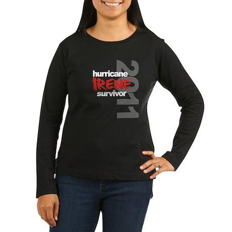 Hurricane Irene Survivor Women's Long Sleeve Dark