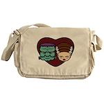 Monster Loves Bride Messenger Bag