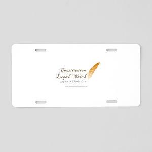 Constitution Legal Watch Aluminum License Plate