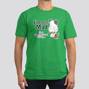 Disappointed Cow Men's Fitted T-Shirt (dark)