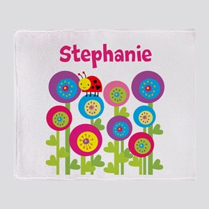 Garden Personalized Throw Blanket