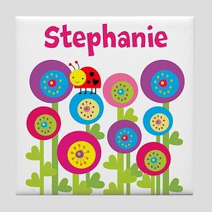 Garden Personalized Tile Coaster