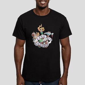 Love thy Neighbor Men's Fitted T-Shirt (dark)