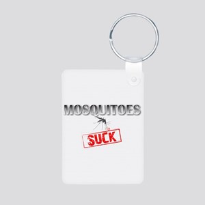 Mosquitoes SUCK funny graphic Aluminum Photo Keych