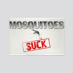 Mosquitoes SUCK funny graphic Rectangle Magnet