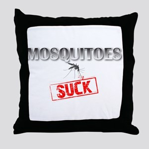 Mosquitoes SUCK funny graphic Throw Pillow